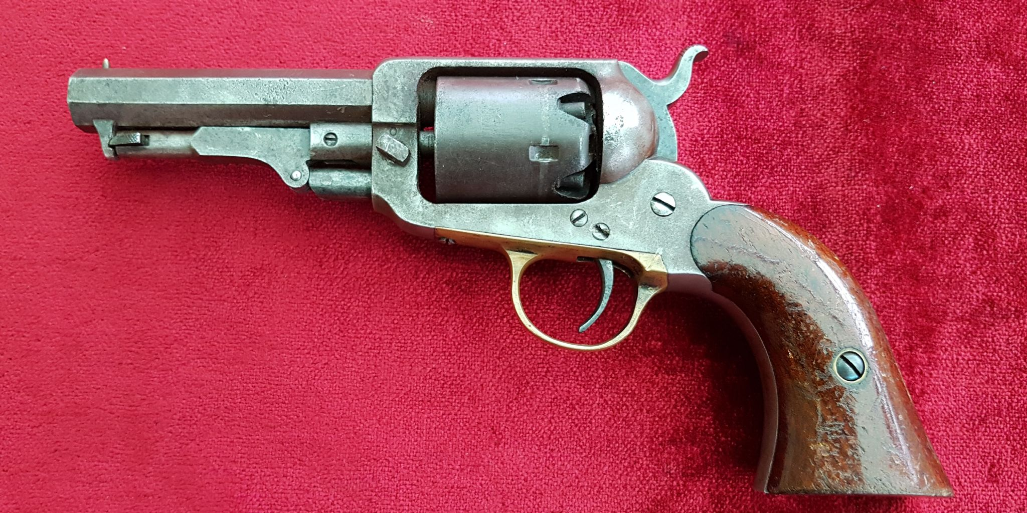 X X X SOLD X X X 5 shot pocket Percussion revolver made by E